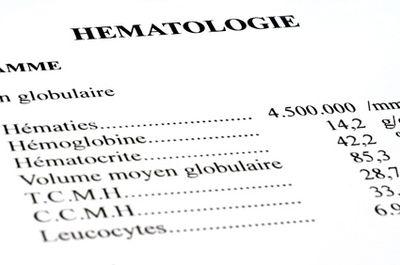 Rsultats d'analyses hmatologiques
