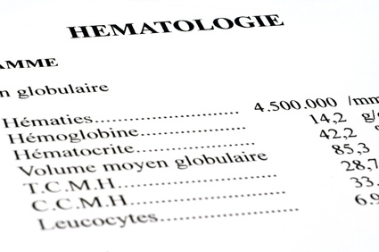 Resultats d'analyses hematologiques-chimiotherapie