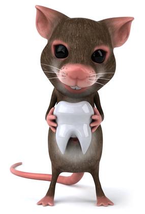 souris portant une dent-age