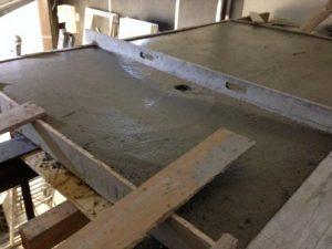 chape beton - terrarium